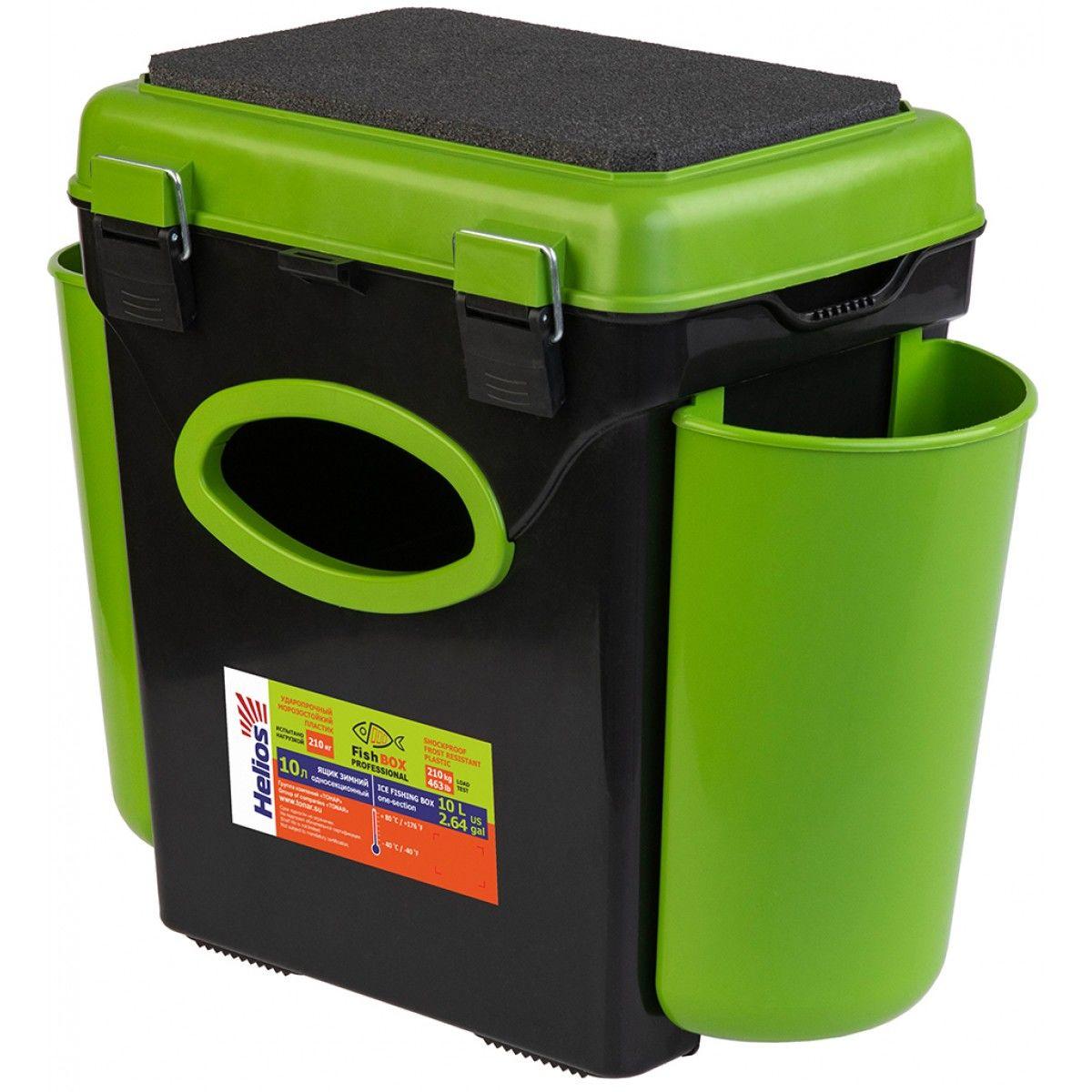 """Ящик зимний """"FishBox"""" Helios,10 л.,с навесными карманами, зеленый"""