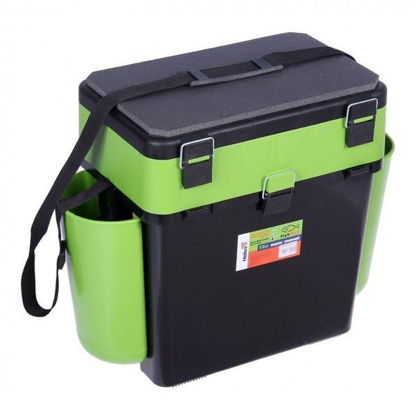 """Ящик зимний """"FishBox"""" Helios,19 л.,с навесными карманами, зеленый"""