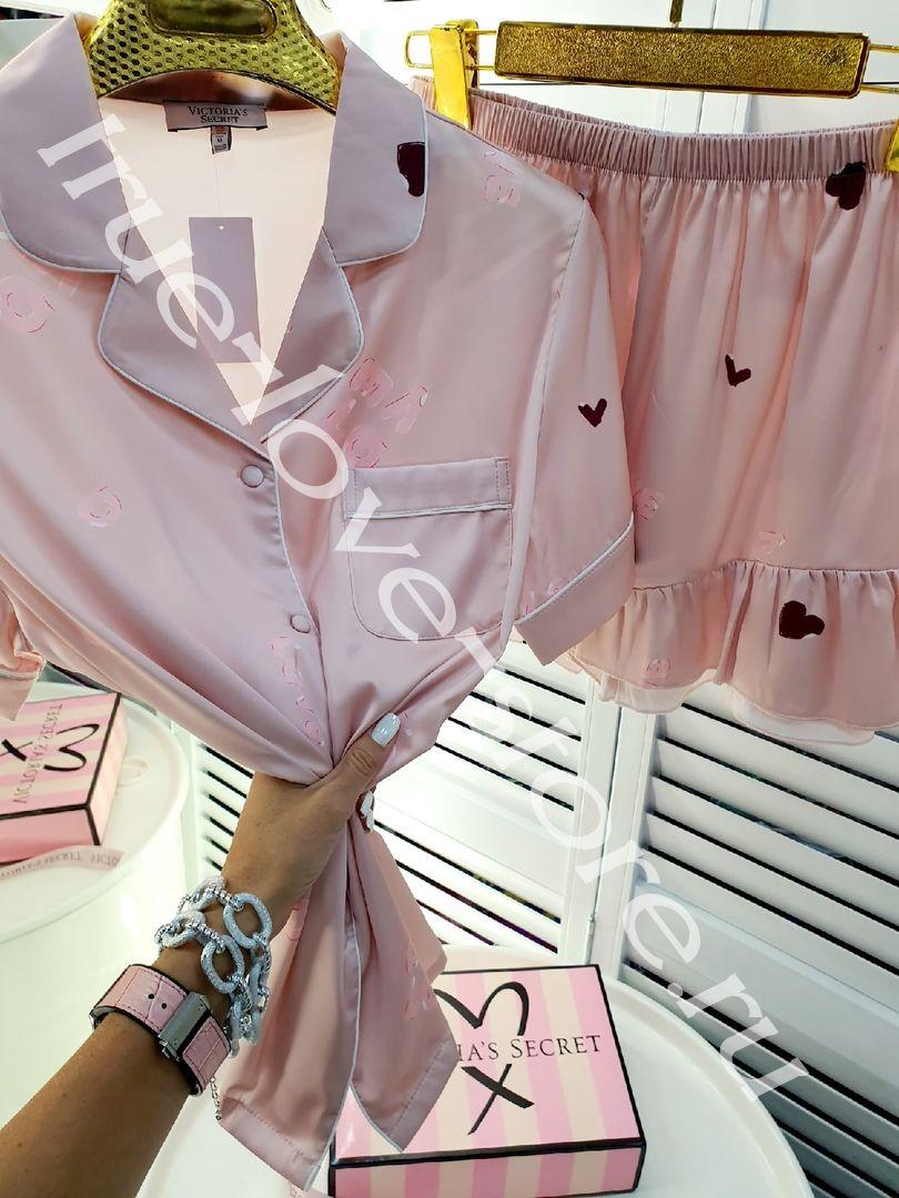 P_023-2- Цена за 1 шт, Пижама двойка (Цвет пудра)
