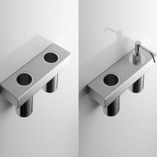 Полочка с 2 отверстиями под стакан или дозатор Antonio Lupi PLAY TAPE13
