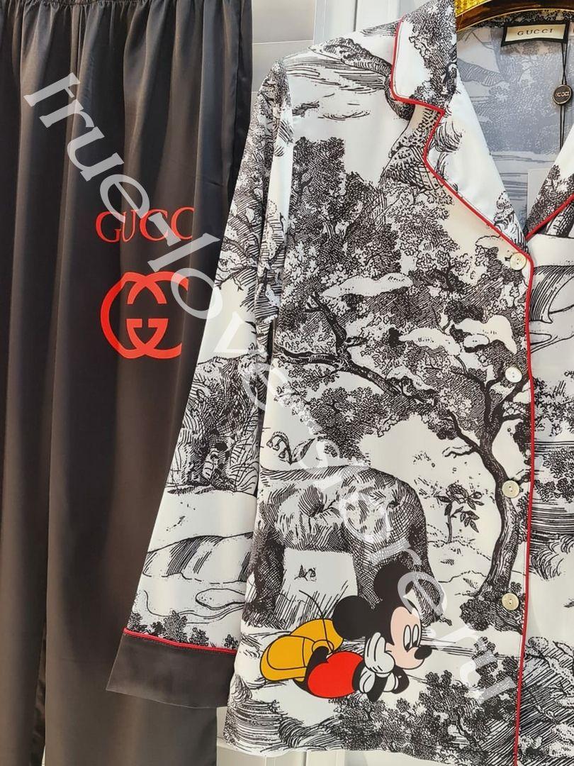 P_024-1- Цена за 3 штуки, Пижама двоечка GUCCI (Тянутый шелк)(M,L,XL)