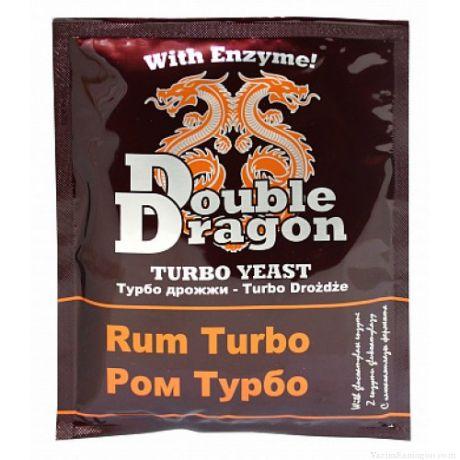 Спиртовые турбо дрожжи Double Dragon Rum, 72 г