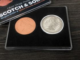 Scotch & Soda (Morgan Dollar and Queen Victoria Ancient Coin) by Oliver Magic