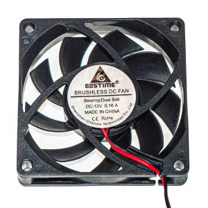 Осевой вентилятор корпусной 70х70х10мм 12В
