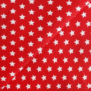 Хлопок Звезды на красном 50х40
