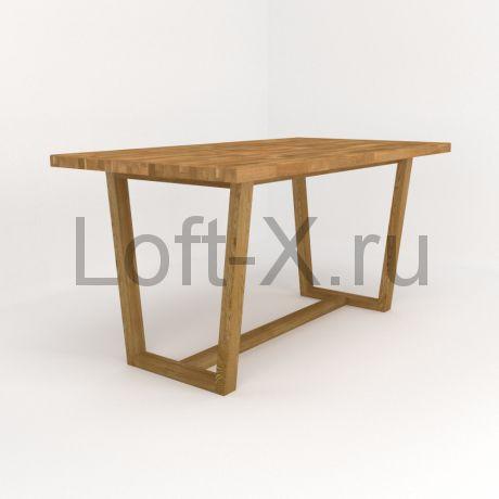 """Обеденный стол """"Трапеция"""" из массива дуба"""