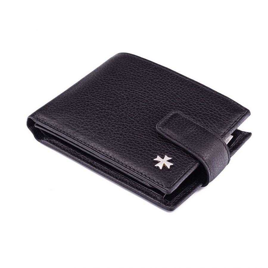 Кожаное портмоне Narvin 9661-N.Polo Black