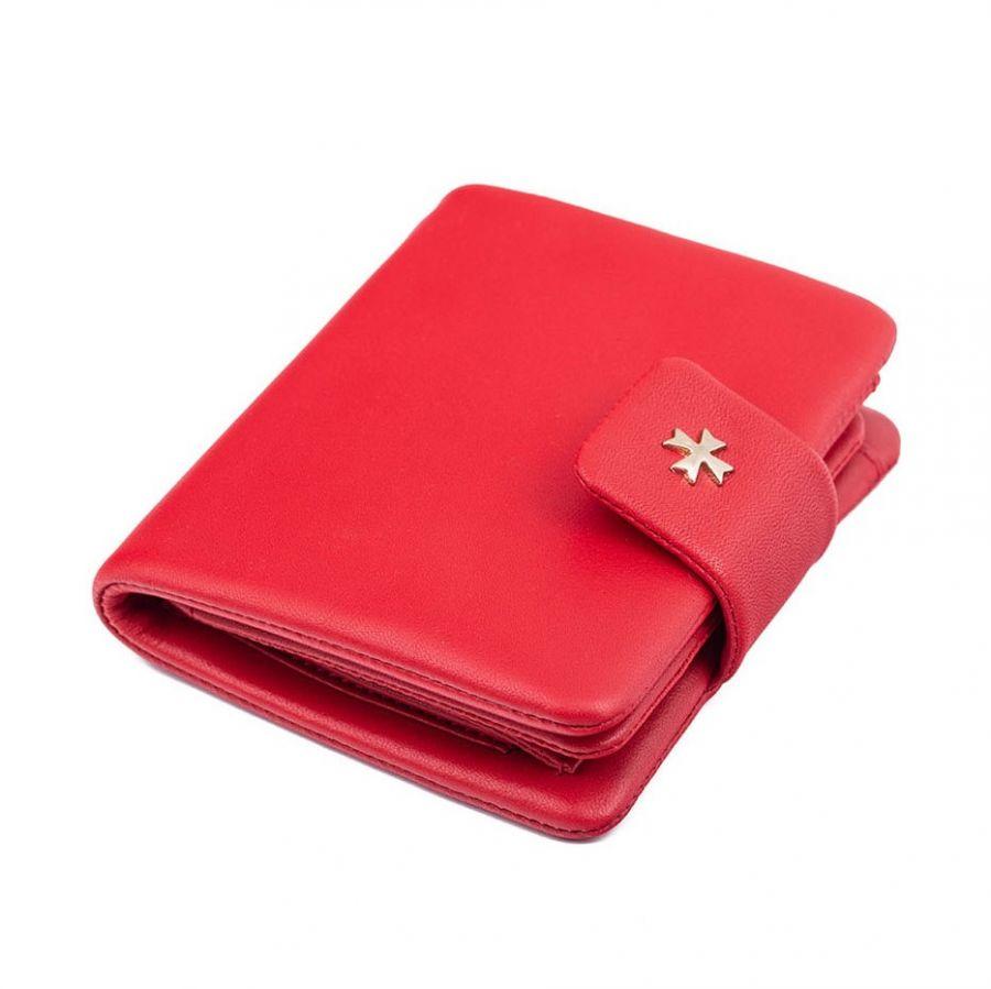 Кожаное женское портмоне Narvin 9699-N.Palermo Red