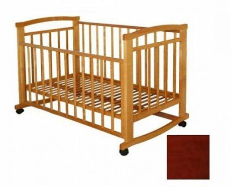 """Детская кровать """"Малютка М5 """" качалка / без ящика Красное дерево"""