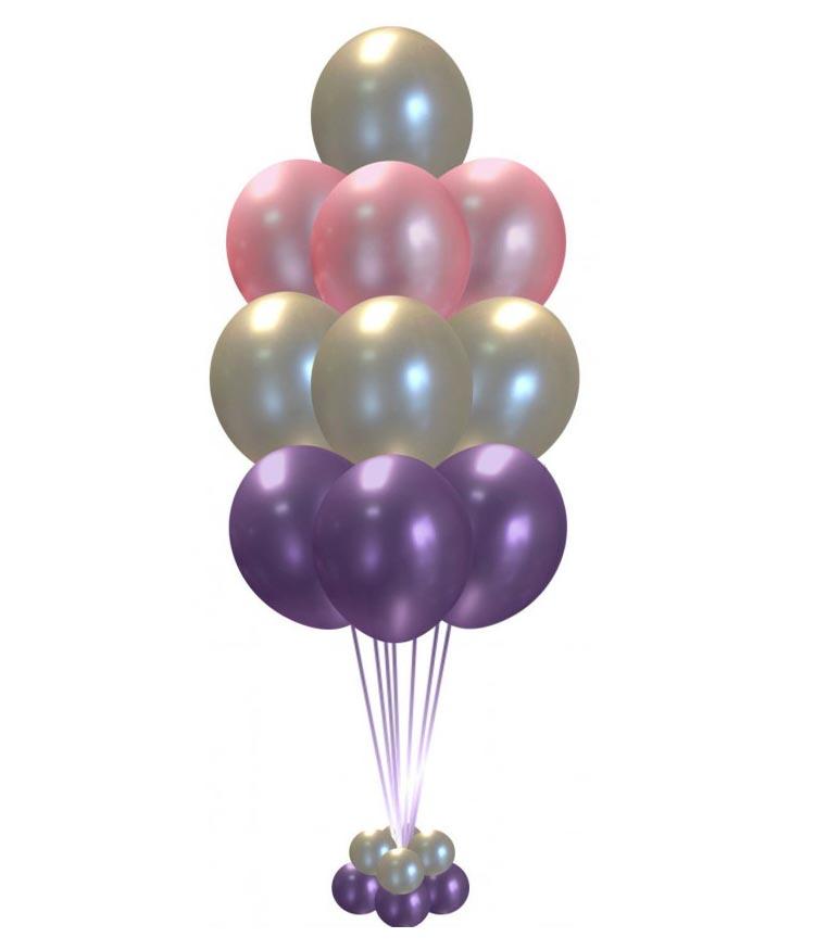 Фонтан из воздушных шаров Радужный