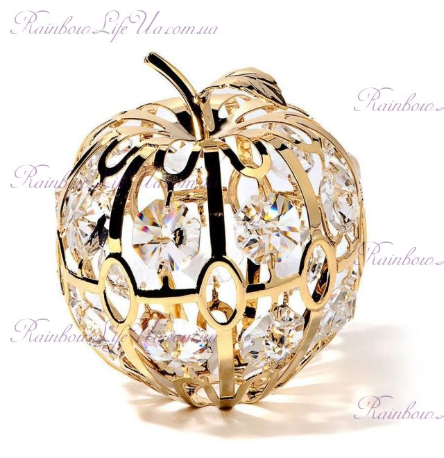 "Фигурка яблоко с камнями ""Swarovski"""