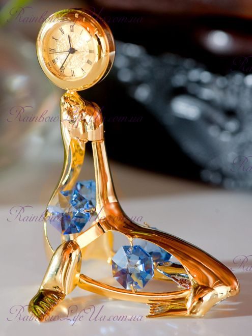 "Часы - фигурка Тюлень с камнями ""Swarovski"""