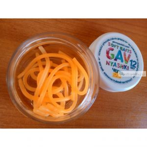 Червь Nyashki Лапша Доширак Club для форели цвет: оранжевый (сыр)