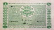 ФИНЛЯНДИЯ. 5 марок 1939