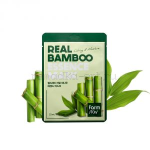 Тканевая маска с экстрактом бамбука  FarmStay Real Bamboo Essence Mask