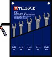 FNWS005 Набор ключей разрезных в сумке 8-19 мм Thorvik, 5 предметов