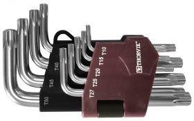 TTKS9S Набор ключей торцевых T-TORX® коротких с центрированным штифтом, Т10H-T50H, 9 предметов
