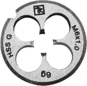 MD61 Плашка D-COMBO круглая ручная М6х1.0, HSS, Ф20х7 мм