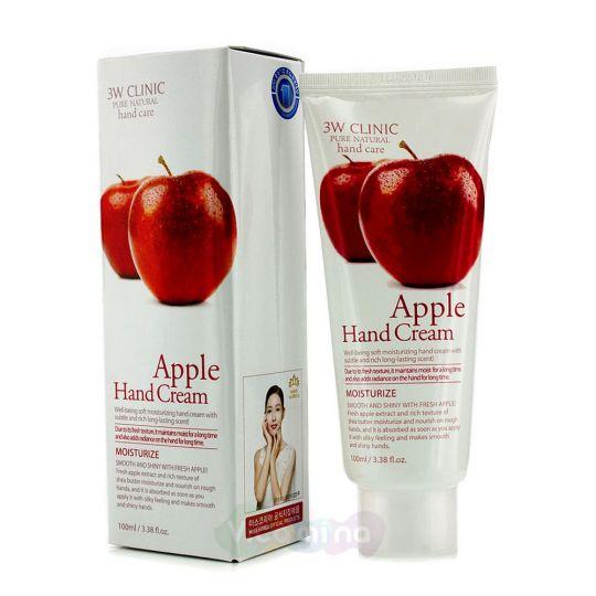 3W Clinic Увлажняющий крем для рук с экстрактом яблока Moisturizing Apple Hand Cream, 100 мл