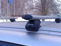 Багажник на интегрированные рейлинги Атлант, аэродинамические дуги