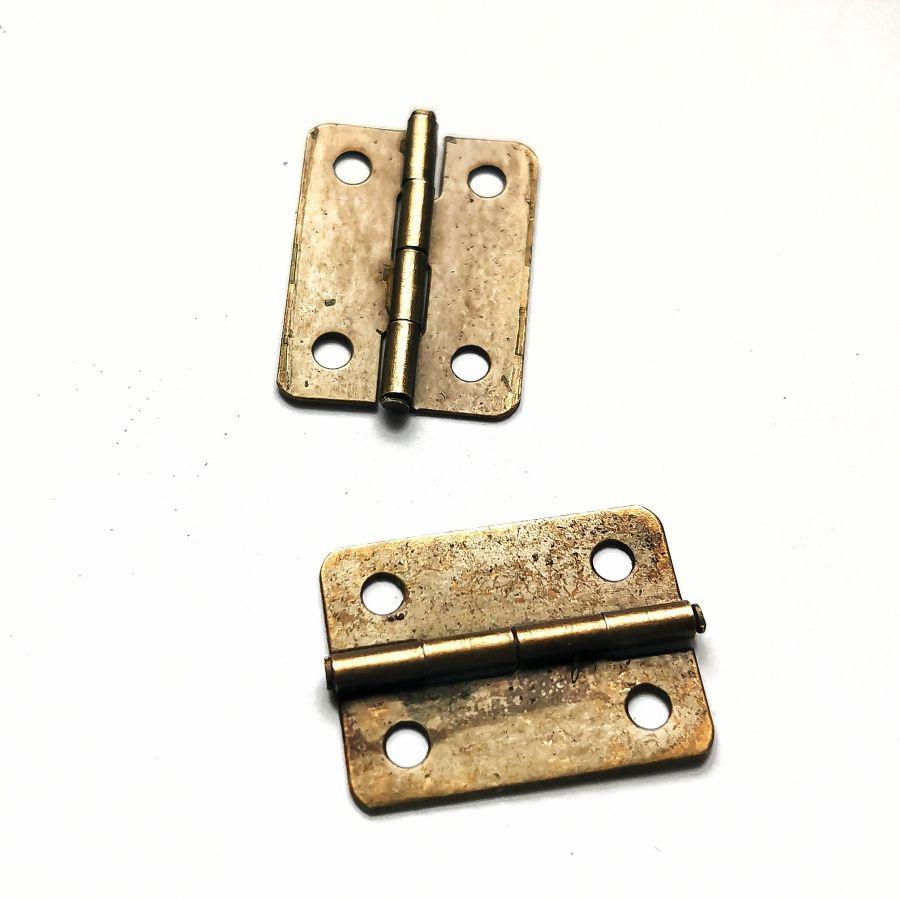Петля для шкатулки, бронза, 26*14 мм, 2 шт/уп