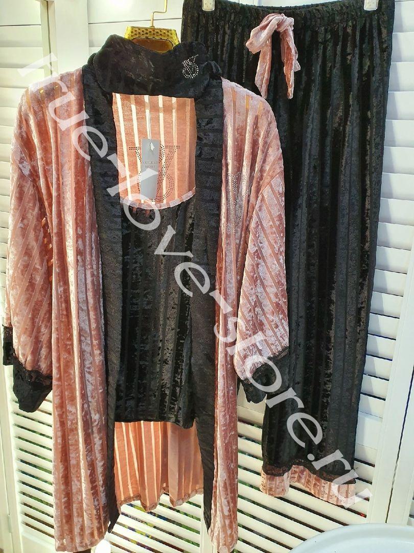 720197-1- Цена за 1 шт, Пижама четверка VS (Бархат)