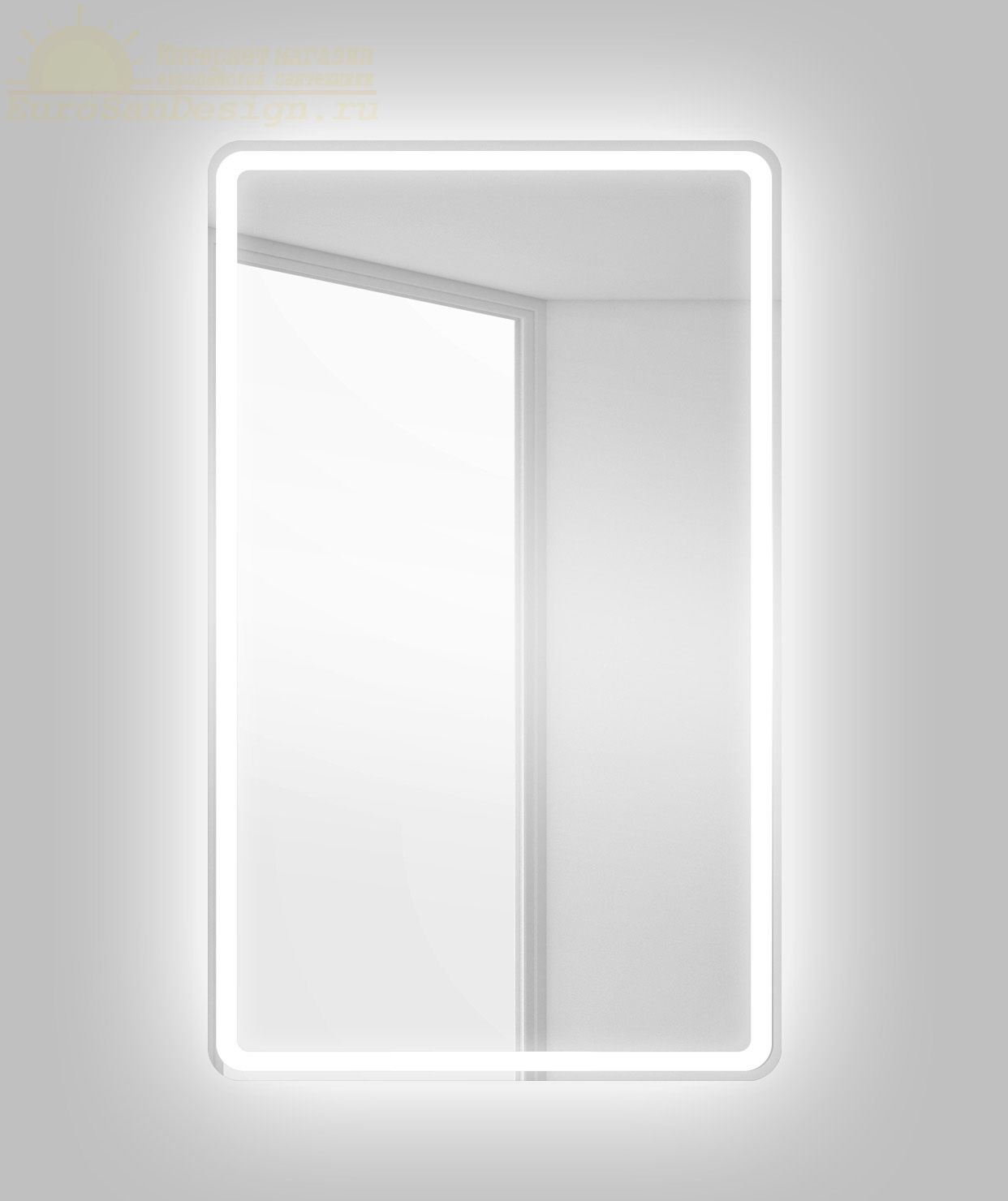 Зеркало для ванной комнаты BelBagno SPC-MAR-500-800-LED-BTN ФОТО