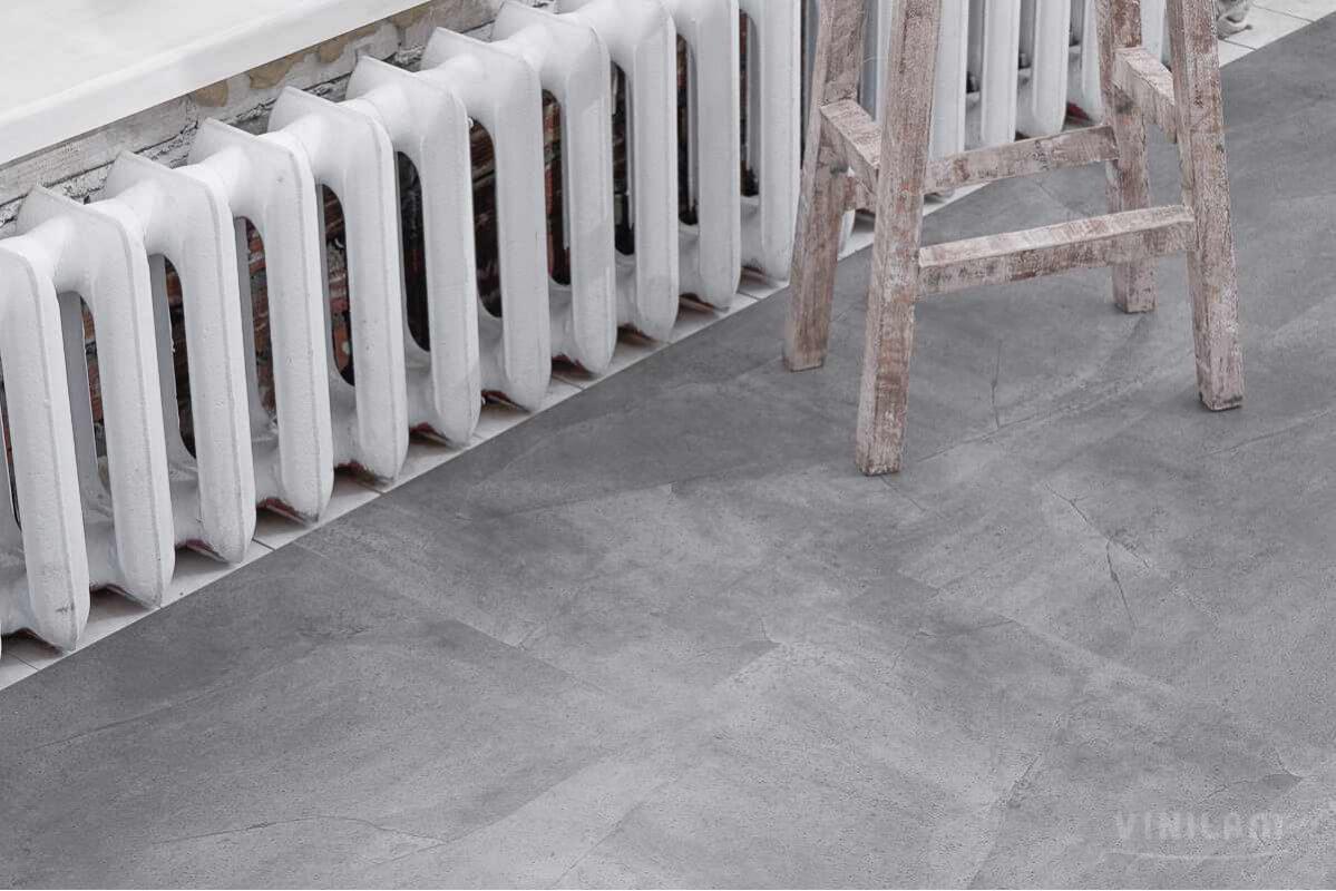 Виниловый ламинат Ceramo Vinilam Stone 5 мм Серый бетон 61602