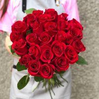 25 красных роз Кения 60 см