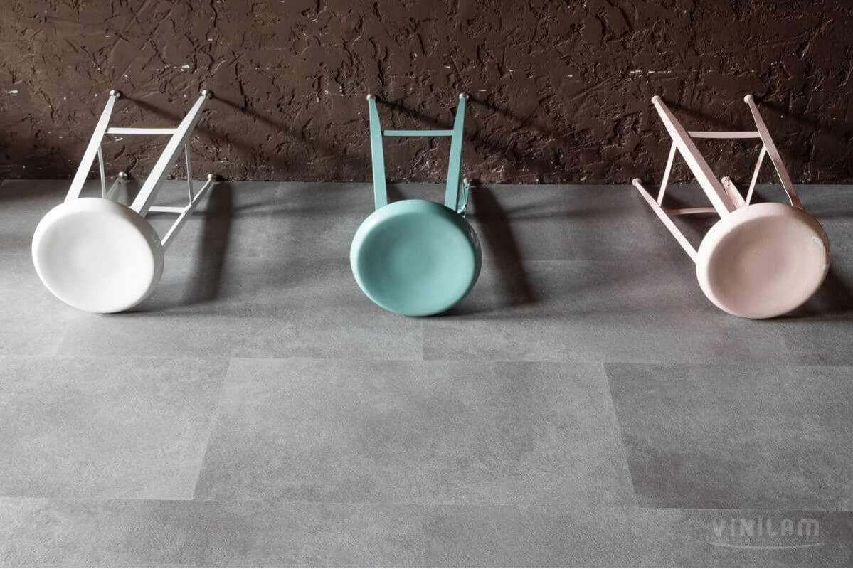 Виниловый ламинат Ceramo Vinilam Stone 5 мм Цемент 61609