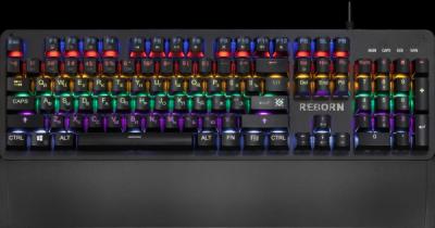 Механическая клавиатура Reborn GK-165DL RU,anti-ghost,радужная