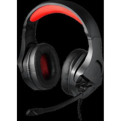Игровая гарнитура Theseus красный + черный, кабель 2 м