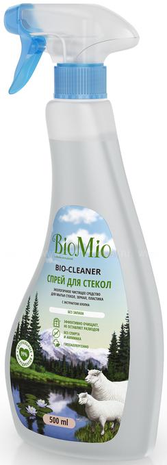 Bio-Mio Bio-Glass Cleaner Экологическое чистящее средство для стёкол, зеркал, пластика без запаха 500 мл