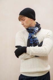 Кашемировая ребристая  мягкая шапка , крупная вязка, цвет черный RIBBED CASHMERE HAT BLACK