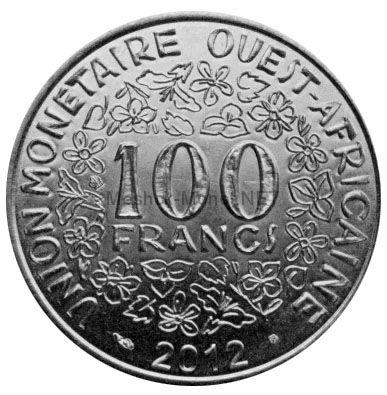 Западно-Африканский союз 100 франков 2012 г.