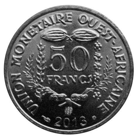 Западно-Африканский союз 50 франков 2013 г.