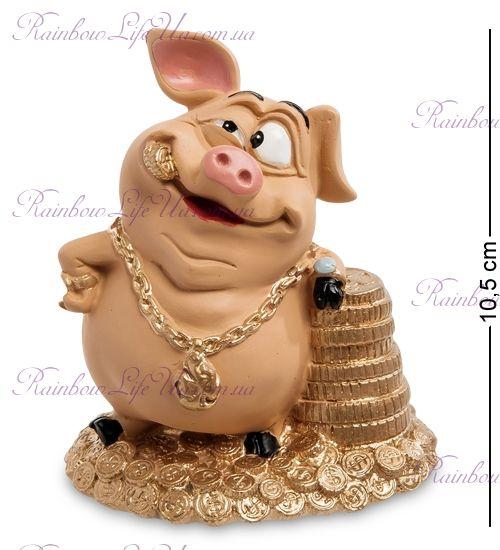 """Фигурка свинка талисман на удачу """"WS"""""""