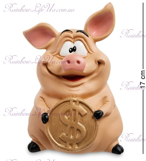 """Копилка свинка с монетой """"WS"""""""