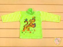 """Детский джемпер-водолазка с длинным рукавом A-JM722-VLk(pl) (велюр, принт тигра) код 01715-1 """"Мамин Малыш"""" оптом"""