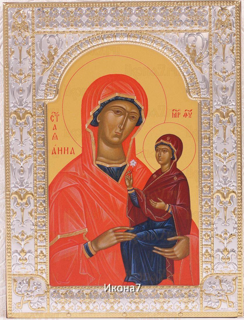 Анна мать Пресвятой Богородицы икона Божией Матери (18х24см)