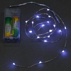 Светодиодная гирлянда на батарейках Нить 30 led огней, Разноцветная 3 м