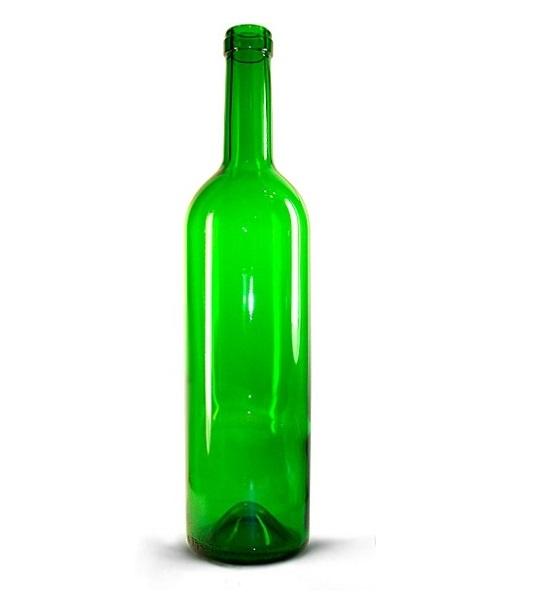 Винная бутылка Бордо, 0,7 л / 16 шт (зеленое стекло)