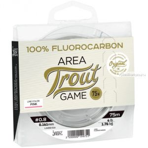 Леска монофильная Lucky John Area Trout Game Fluorocarbon Pink 75м