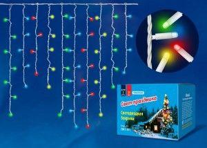 Гирлянда-бахрома электрическая Uniel ULD-B3010-200/SWK разноцветный