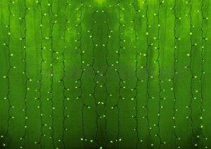"""Гирлянда электрическая Neon-Night занавес """"Светодиодный дождь'' Зелёный 235-154-6"""