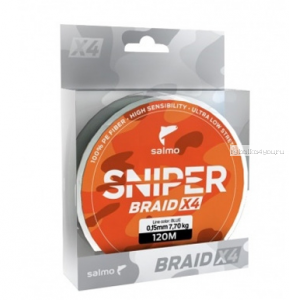Леска плетеная Salmo Sniper Braid Blue 120 м