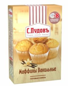 ПУДОВ Маффины ванильные мучная смесь 250 г