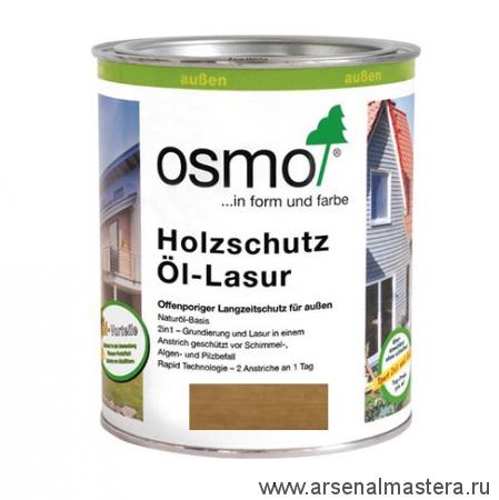 Защитное масло-лазурь для древесины для наружных работ OSMO Holzschutz Ol-Lasur 1150 Американский орех 0,75 л