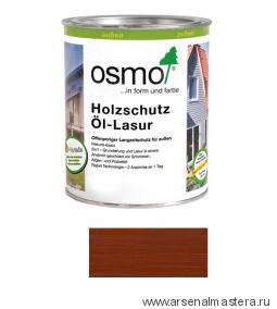 Защитное масло-лазурь для древесины для наружных работ OSMO Holzschutz Ol-Lasur 703 Махагон 0,125 л