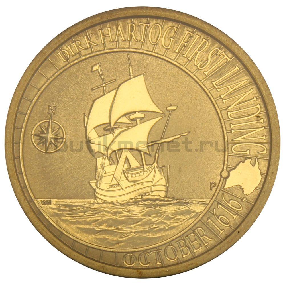 1 доллар 2016 Австралия Дирк Хартог
